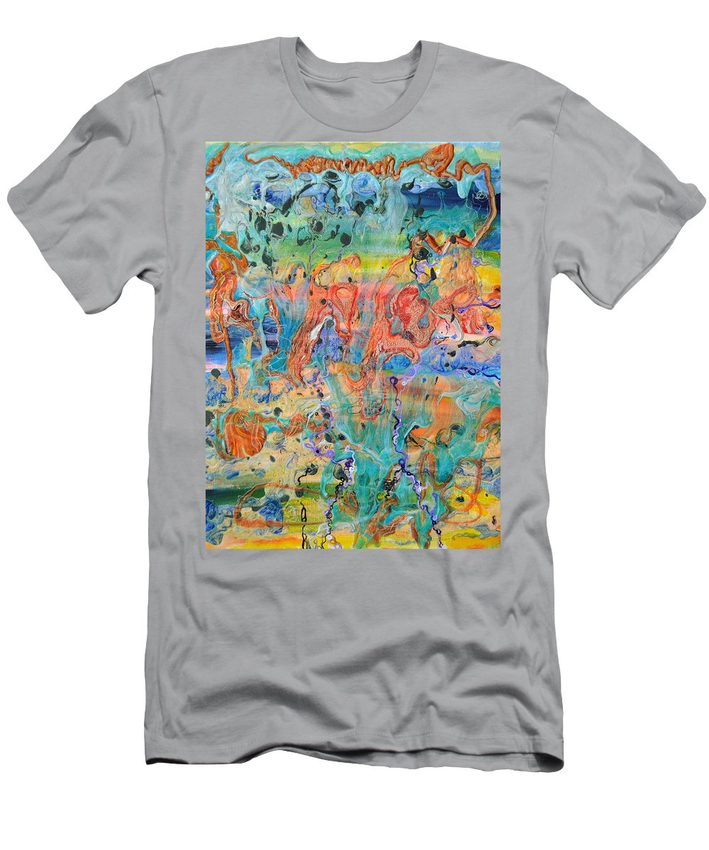 Big Bang Men's T-Shirt (Athletic Fit) featuring the painting First Microseconds by Regina Valluzzi