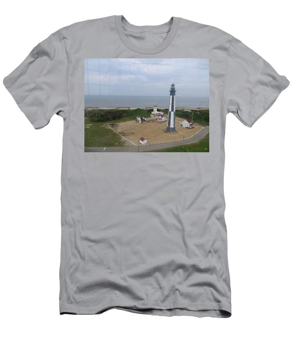 Chesapeake Bay Men's T-Shirt (Athletic Fit) featuring the photograph First State Landing Lighthouse by Sonali Gangane