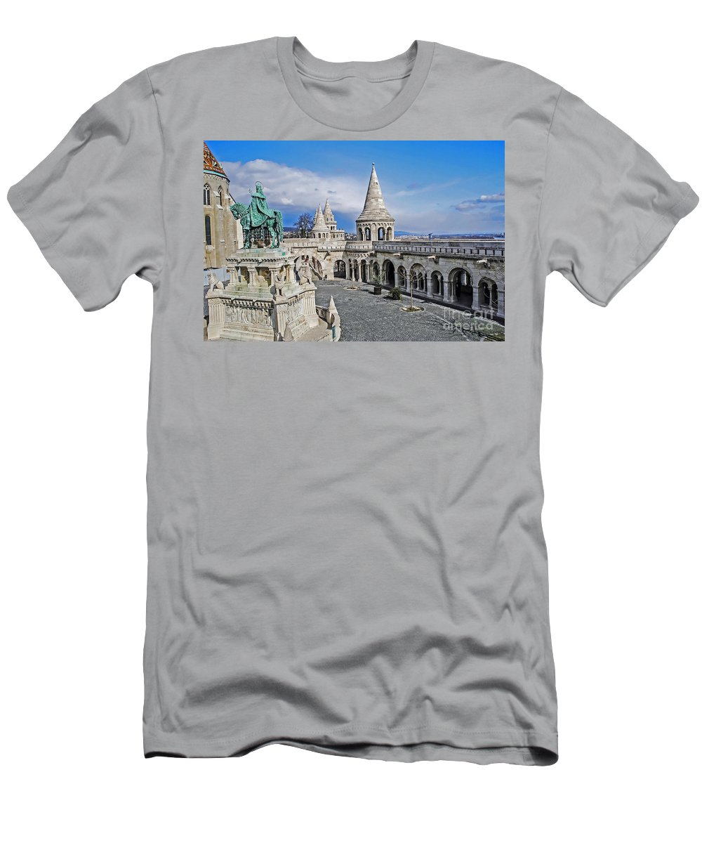 Travel Men's T-Shirt (Athletic Fit) featuring the photograph Fisherman's Bastion by Elvis Vaughn
