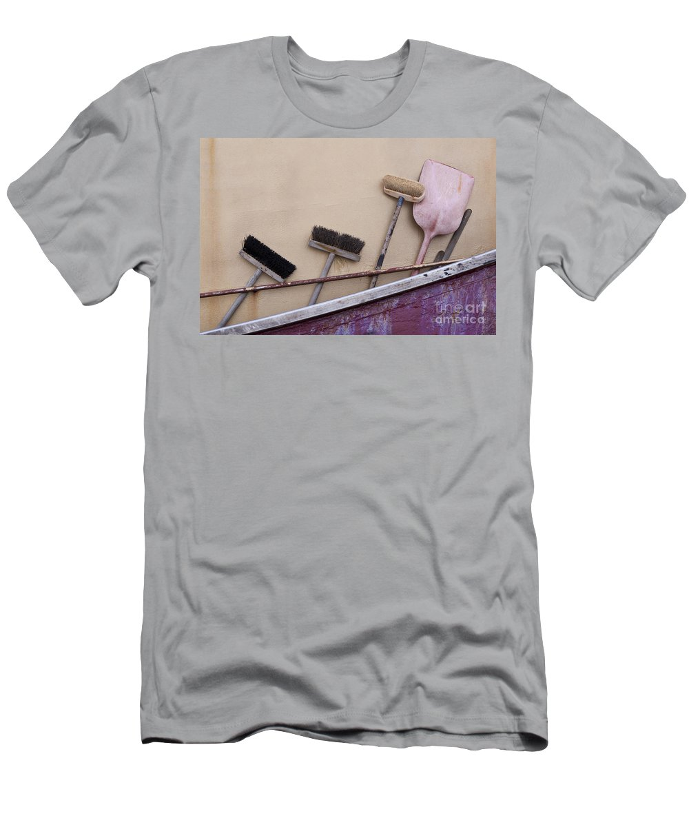 Fisherman's Terminal Men's T-Shirt (Athletic Fit) featuring the photograph Fishermen's Terminal by Jim Corwin