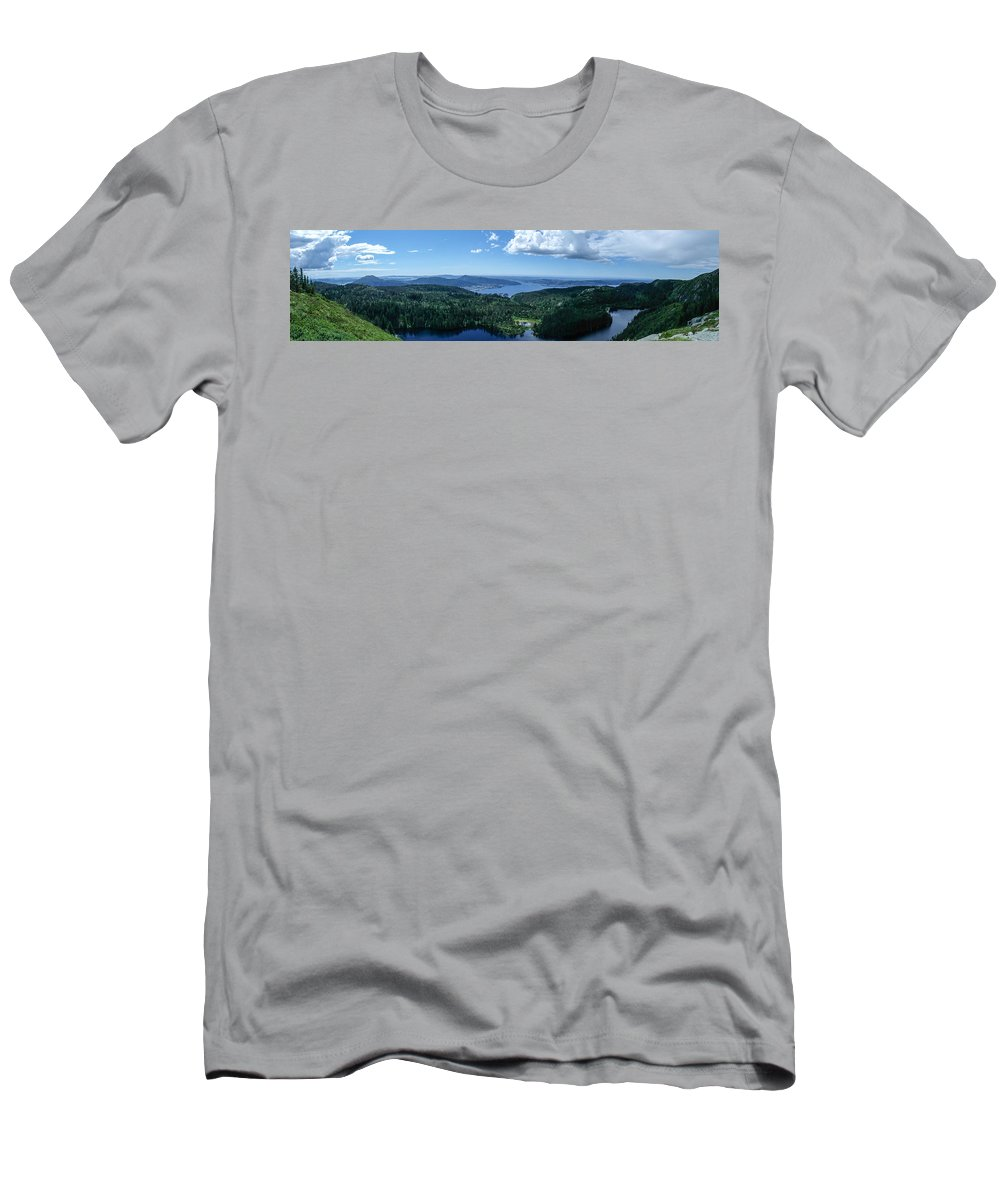 Fjord Men's T-Shirt (Athletic Fit) featuring the photograph Fjord View by Mark Burn