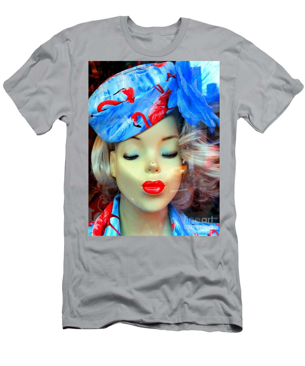 Mannequin Men's T-Shirt (Athletic Fit) featuring the photograph Flamingo Couture by Ed Weidman