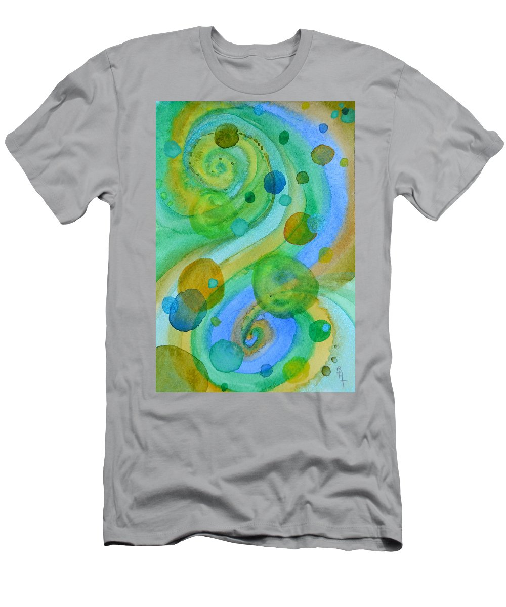 Abstract Men's T-Shirt (Athletic Fit) featuring the painting Flight 319 by Beverley Harper Tinsley