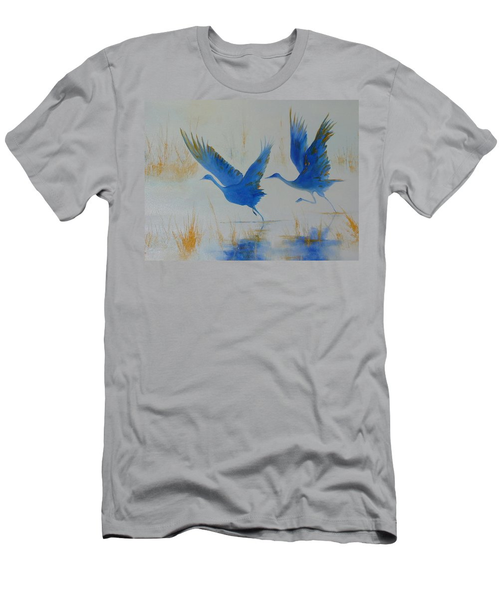 Flight Men's T-Shirt (Athletic Fit) featuring the painting Flight II by Lord Frederick Lyle Morris