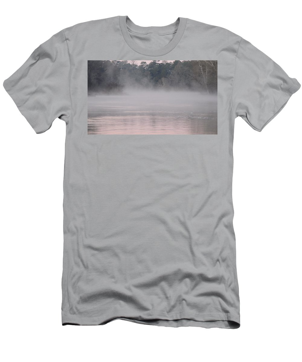 Digital Photo Men's T-Shirt (Athletic Fit) featuring the photograph Flint River 3 by Kim Pate