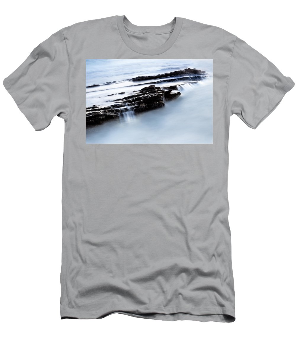 Floating Stone Men's T-Shirt (Athletic Fit) featuring the photograph Floating Stone by Edgar Laureano