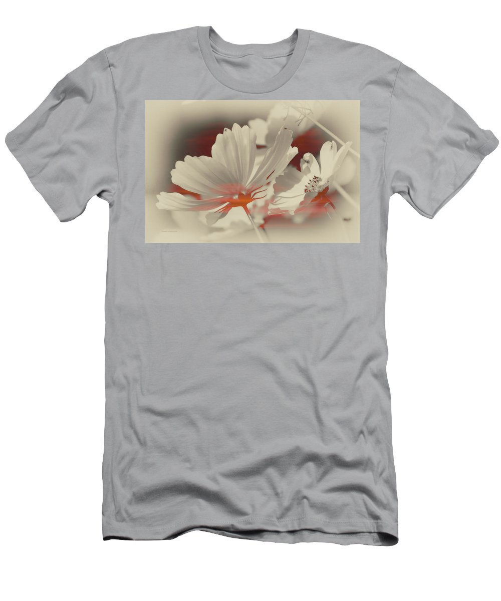 Floral Men's T-Shirt (Athletic Fit) featuring the photograph Floral Early Garden Light 11 by Thomas Woolworth