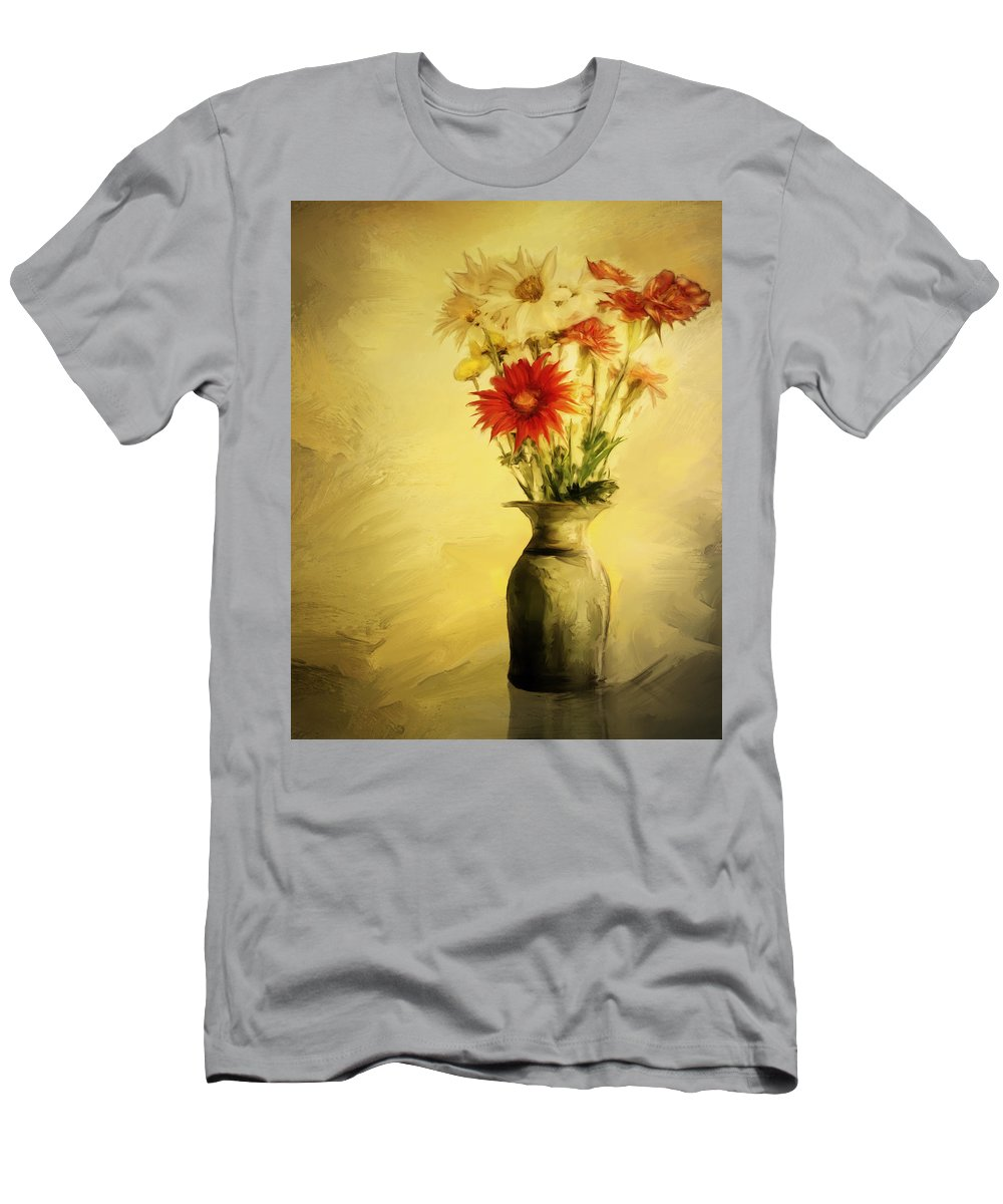 Floral Men's T-Shirt (Athletic Fit) featuring the digital art Floral Expression by Diane Dugas