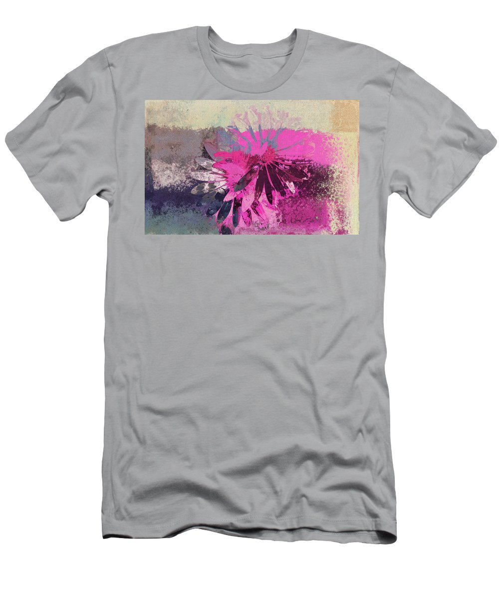 Daisies Men's T-Shirt (Athletic Fit) featuring the digital art Floral Fiesta - S31at01b by Variance Collections