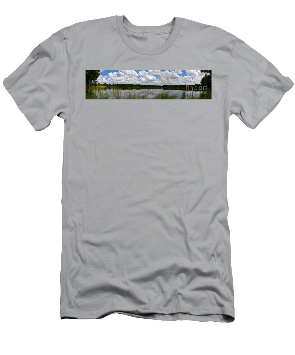 Lake Men's T-Shirt (Athletic Fit) featuring the photograph Florida Lake 1 by Nancy L Marshall