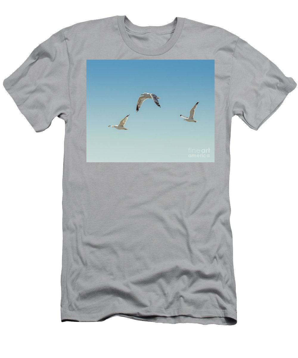 Art Men's T-Shirt (Athletic Fit) featuring the photograph Flying Free by Lucid Mood
