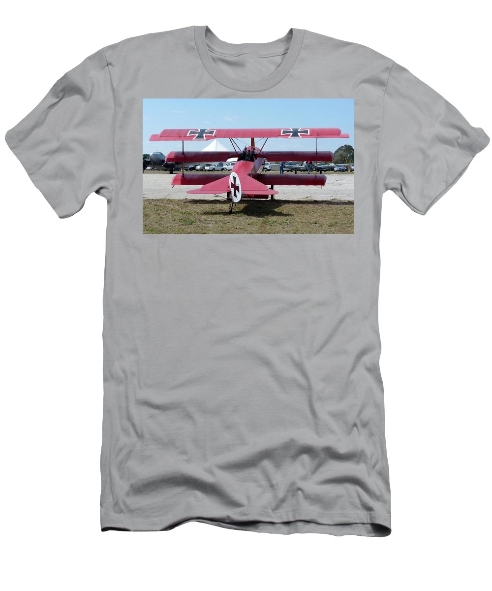 Fokker Dr.i Men's T-Shirt (Athletic Fit) featuring the photograph Fokker Dr.i by Matt Abrams