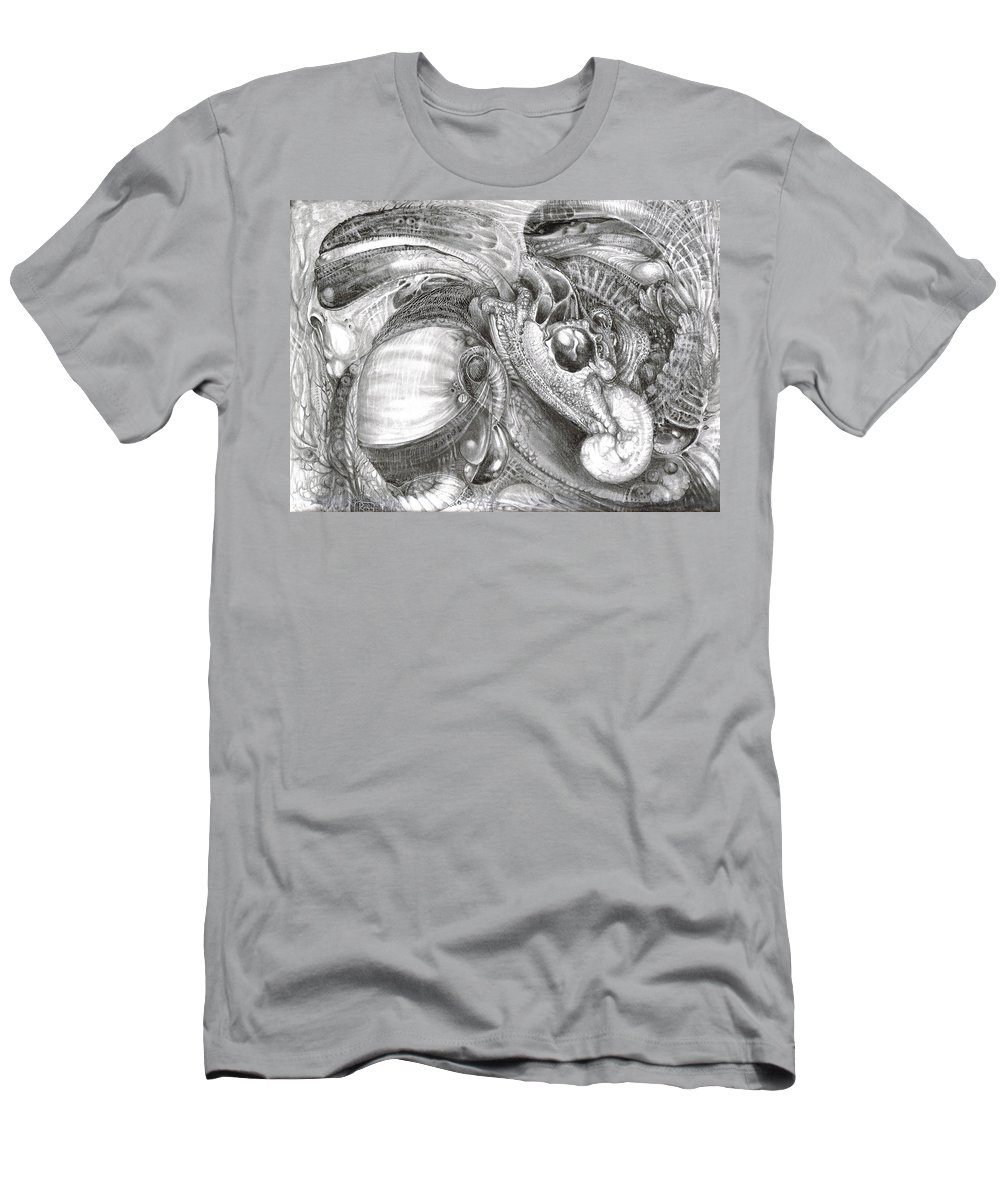 Fomorii Men's T-Shirt (Athletic Fit) featuring the drawing Fomorii Aliens by Otto Rapp