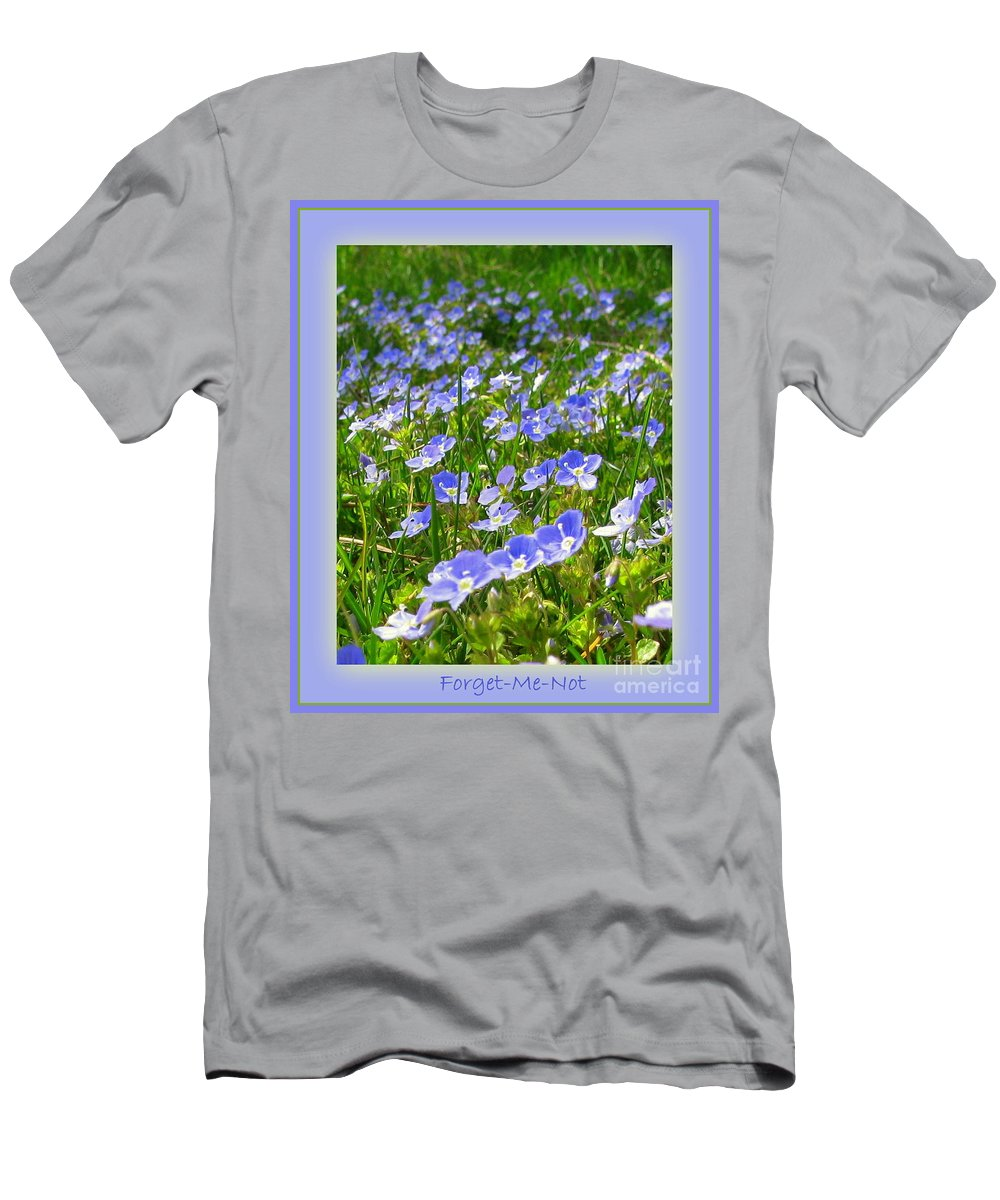 Forget Men's T-Shirt (Athletic Fit) featuring the photograph Forget Me Not by Leone Lund