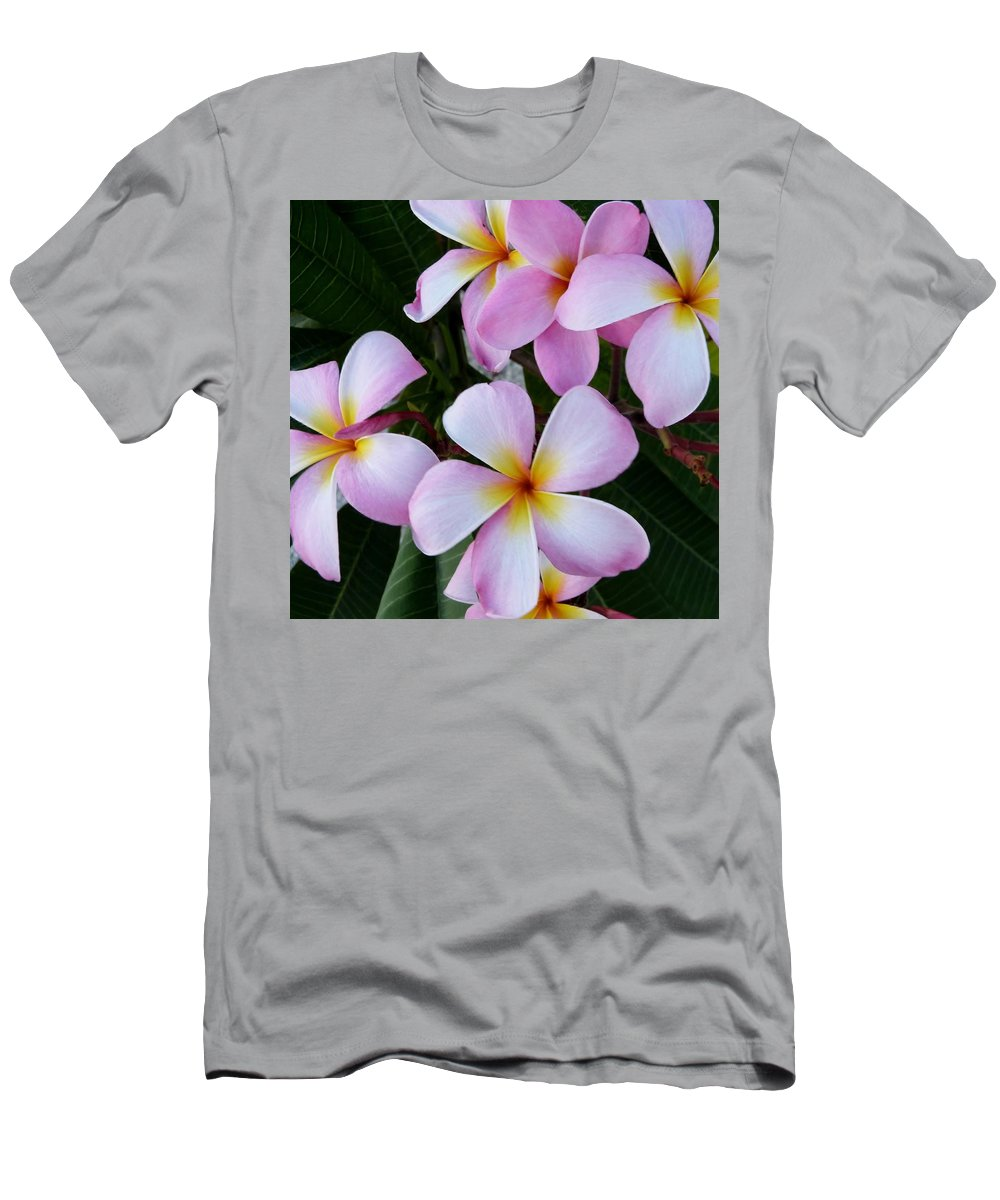 Color Men's T-Shirt (Athletic Fit) featuring the photograph Frangipani by Amar Sheow