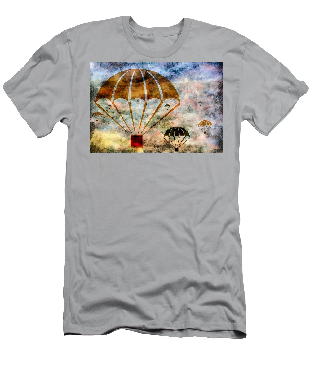 Free Men's T-Shirt (Athletic Fit) featuring the mixed media Free Falling by Angelina Vick