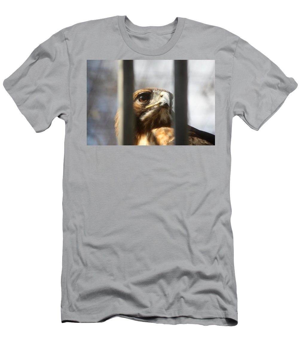 Birds Men's T-Shirt (Athletic Fit) featuring the photograph Freedom Isn't Free by Nunweiler Photography