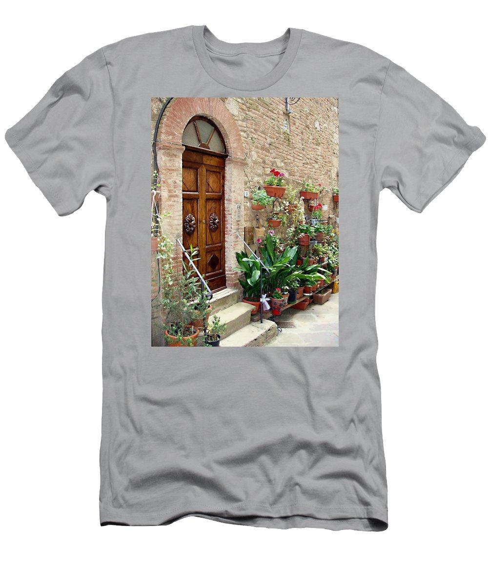 Front Door Men's T-Shirt (Athletic Fit) featuring the photograph Front Door by Ellen Henneke