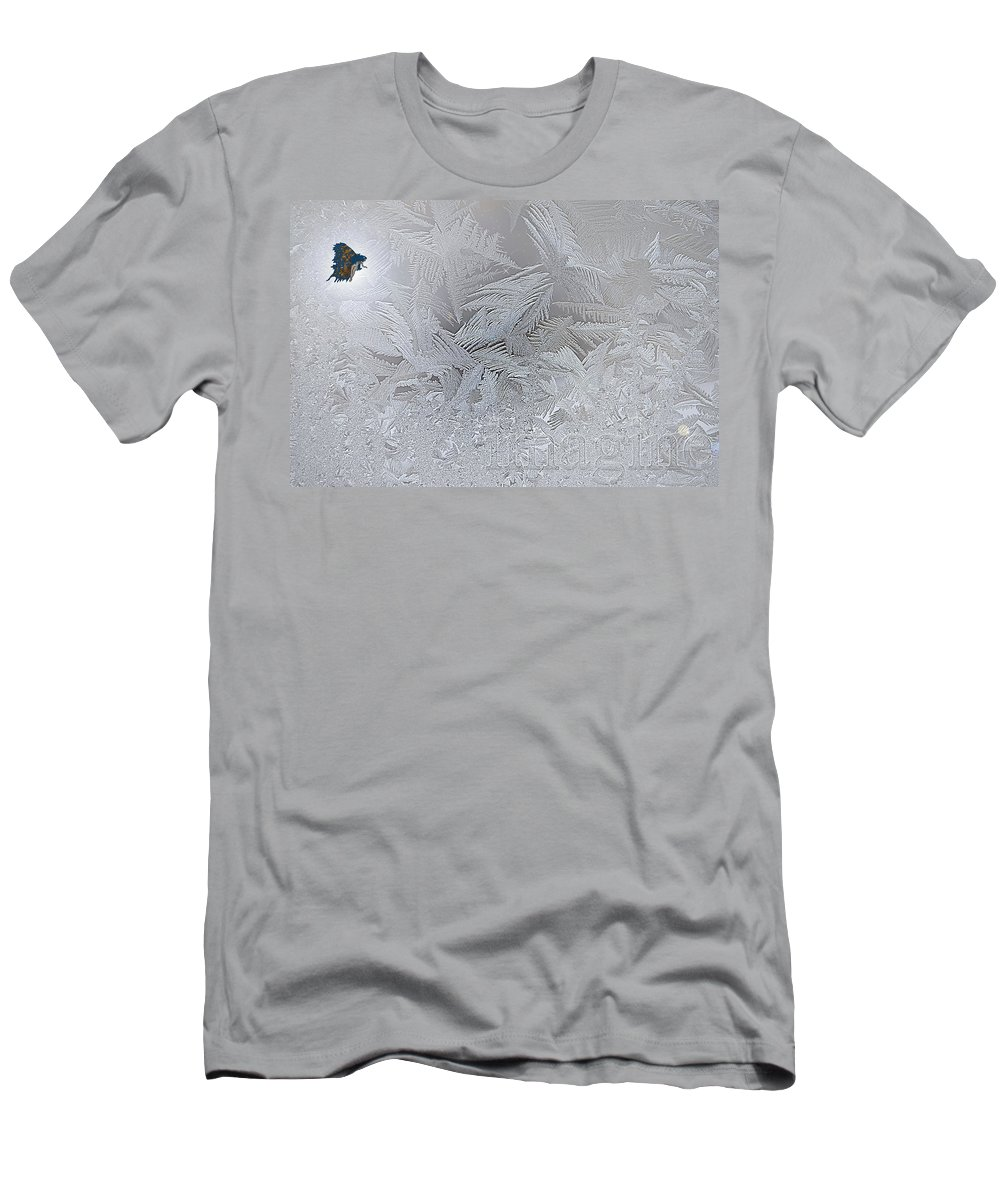 Imagine Men's T-Shirt (Athletic Fit) featuring the digital art Frosty Dreams by Lisa Knechtel