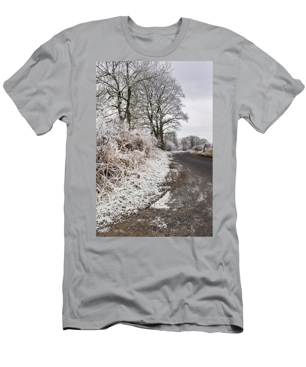 Cold Men's T-Shirt (Athletic Fit) featuring the photograph Frosty Road by David Head