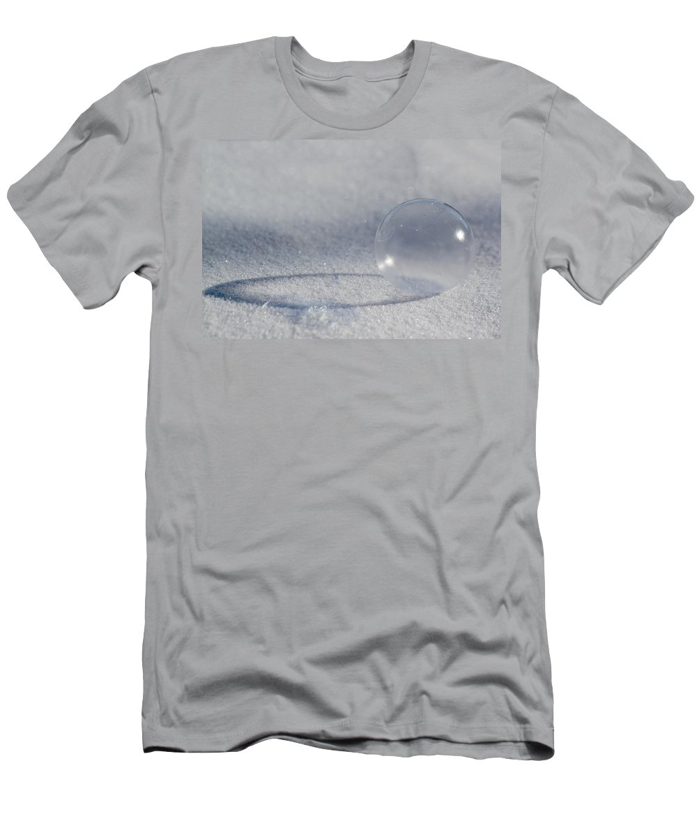 Bubble Men's T-Shirt (Athletic Fit) featuring the photograph Frozen Bubble by Shane Bechler
