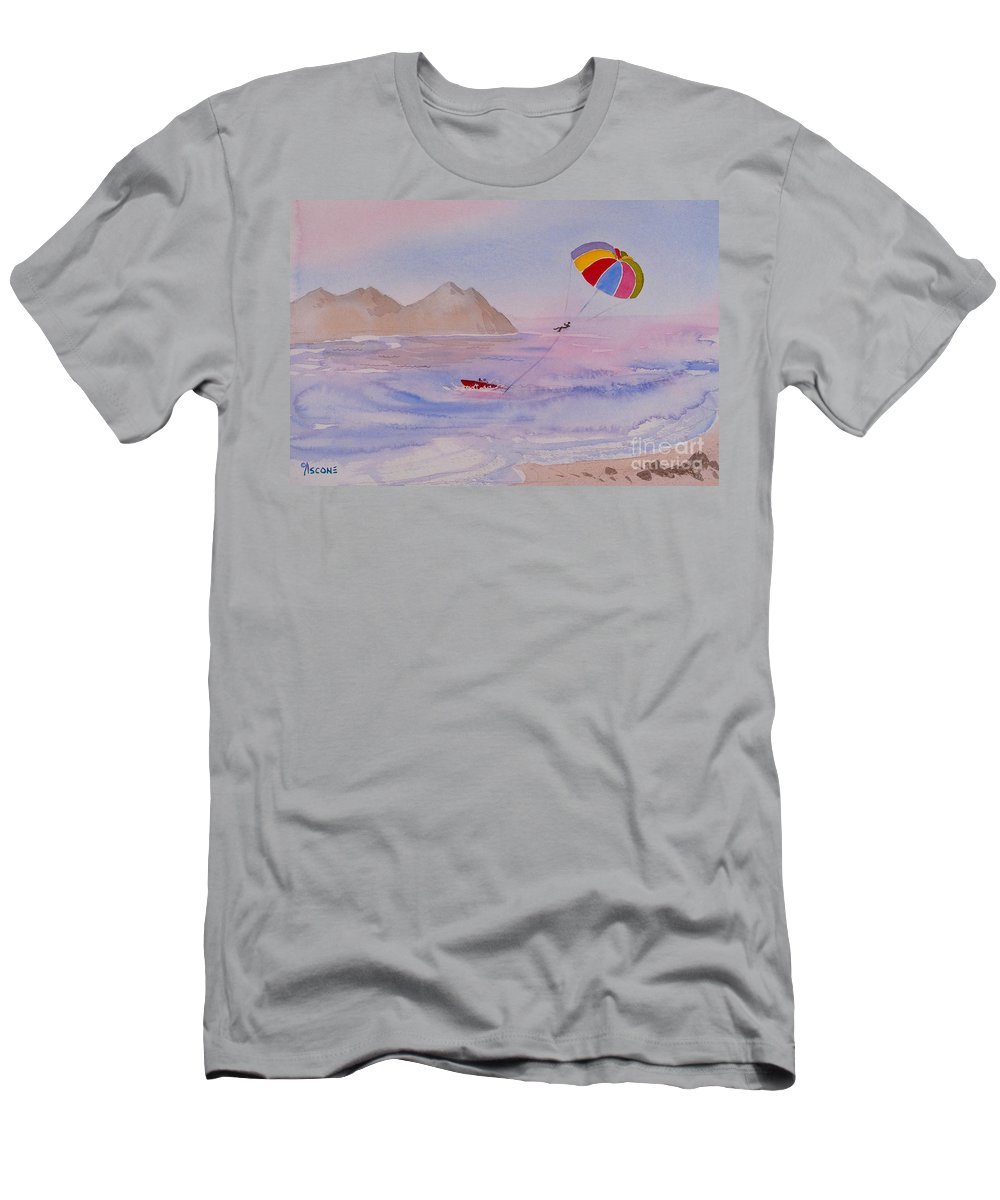 Fun Men's T-Shirt (Athletic Fit) featuring the painting Fun In Mexico by Teresa Ascone