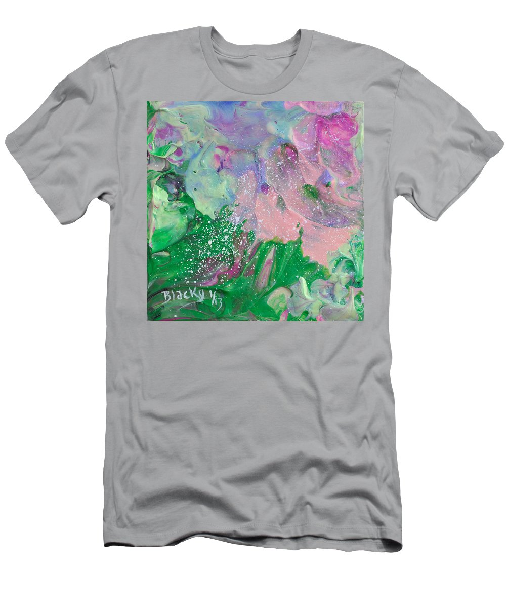 Bold Abstract Men's T-Shirt (Athletic Fit) featuring the painting Garden Parfait by Donna Blackhall