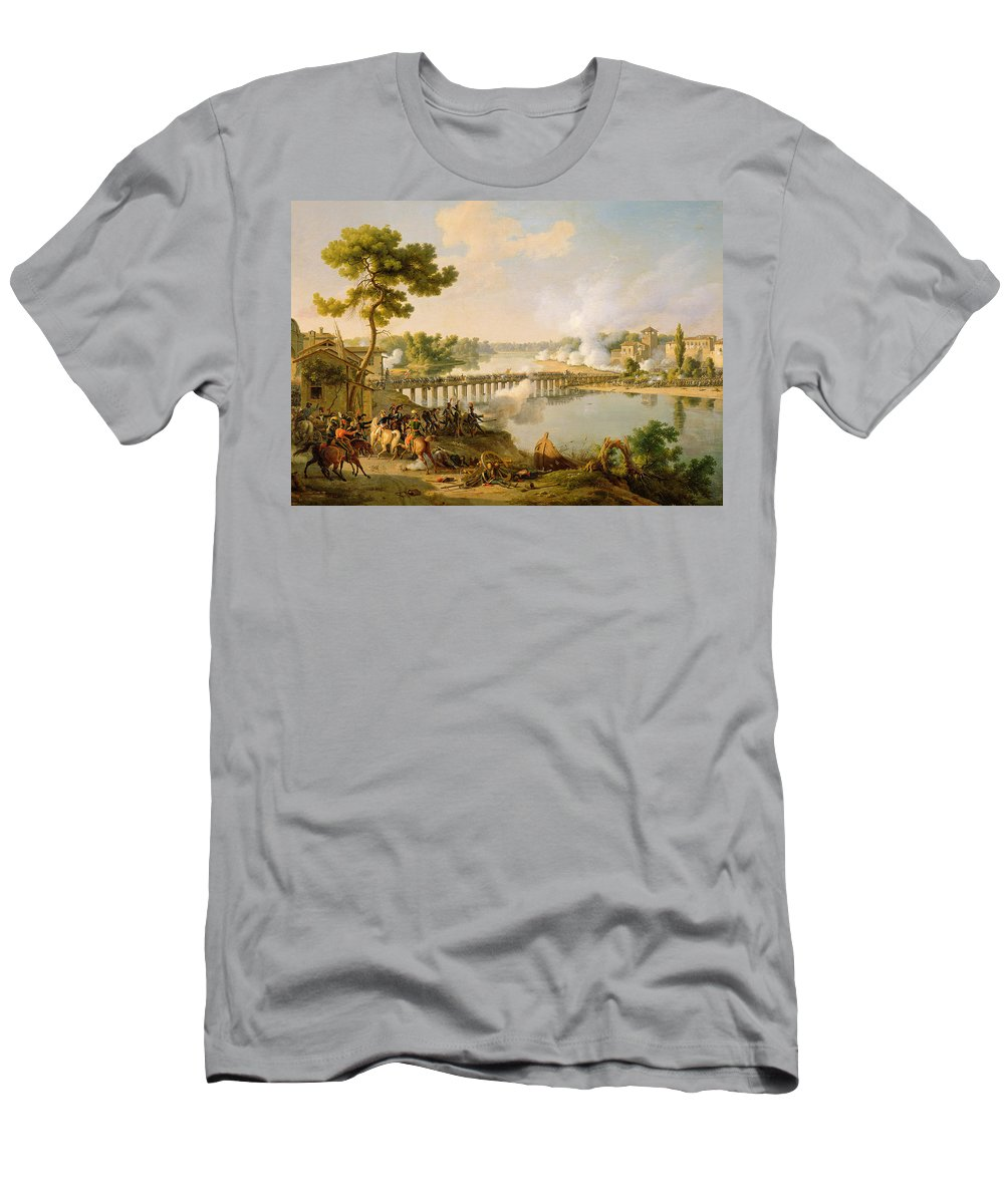 General Bonaparte Giving Orders At The Battle Of Lodi Men's T-Shirt (Athletic Fit) featuring the painting General Bonaparte Giving Orders At The Battle Of Lodi by Louis Lejeune