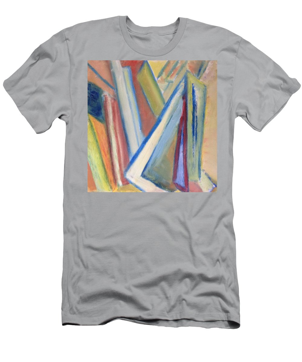 Abstract T-Shirt featuring the painting Geometric Tension Series V1 by Patricia Cleasby