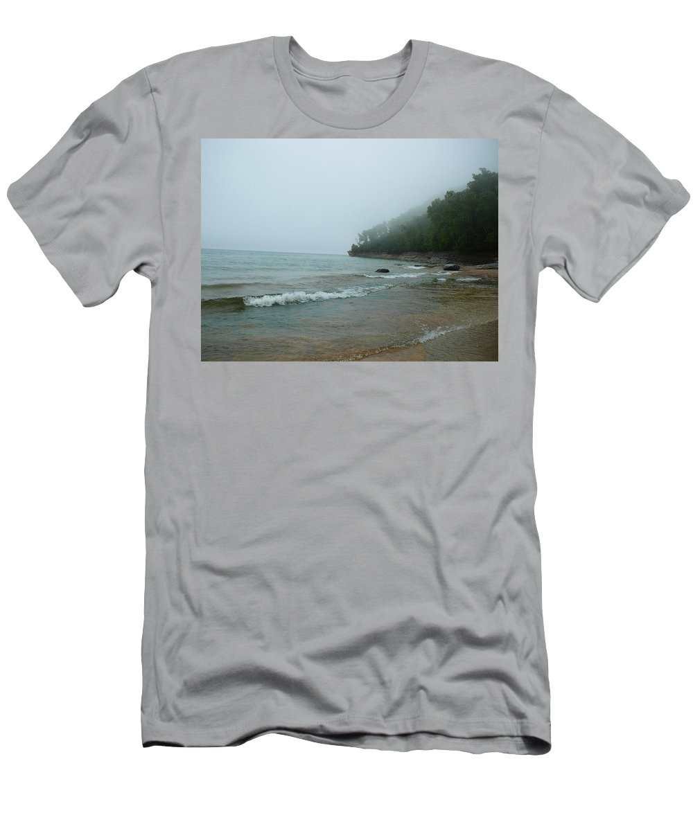 Upper Peninsula Men's T-Shirt (Athletic Fit) featuring the photograph Ghost Trees by Two Bridges North