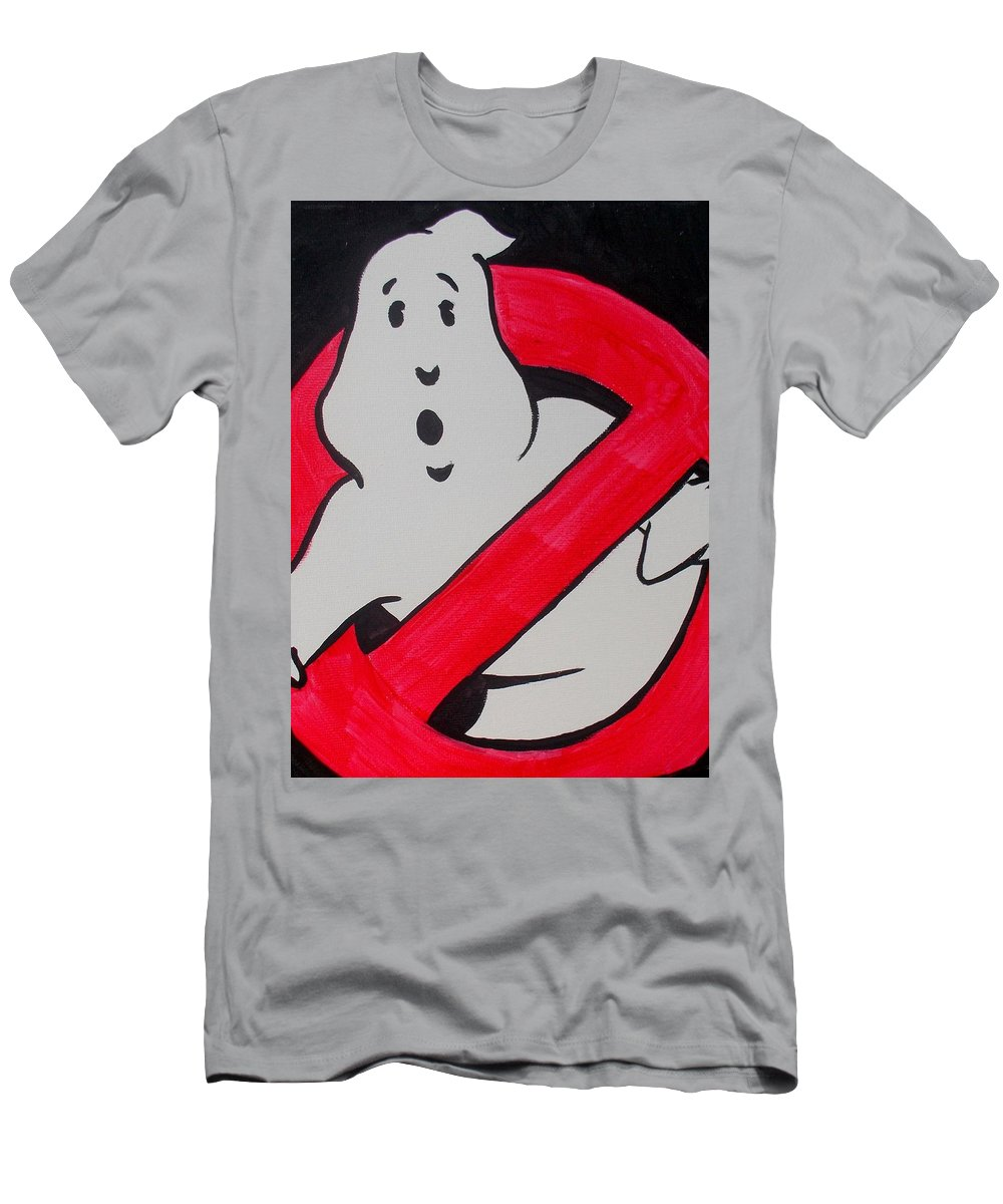 Ghost Men's T-Shirt (Athletic Fit) featuring the painting Ghostbuster by Marisela Mungia