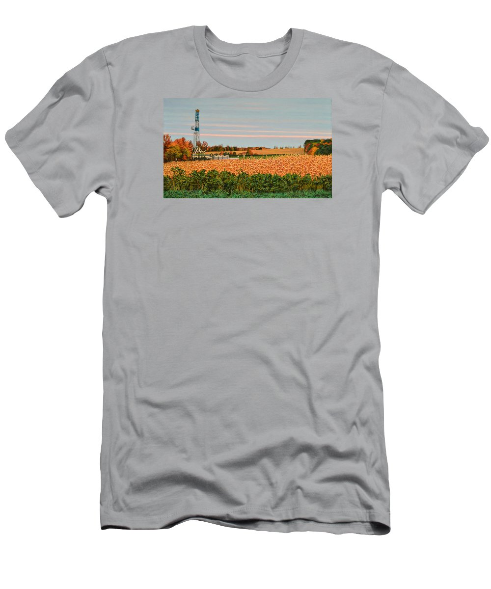 Landscape Men's T-Shirt (Athletic Fit) featuring the painting Giant by Kenneth Cobb