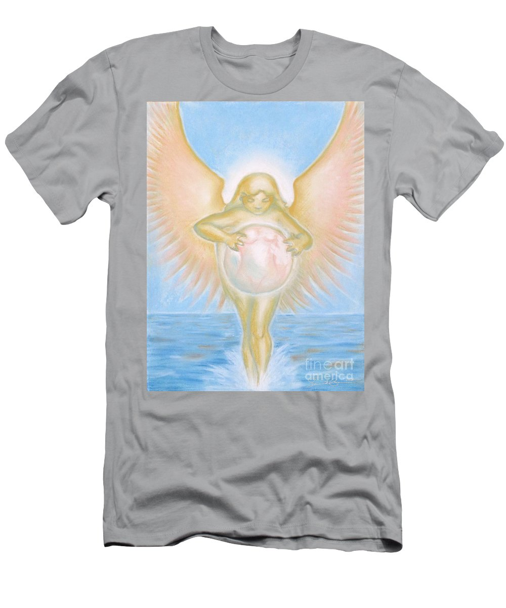 Goddess Men's T-Shirt (Athletic Fit) featuring the drawing Gift Of The Golden Goddess by Samantha Geernaert