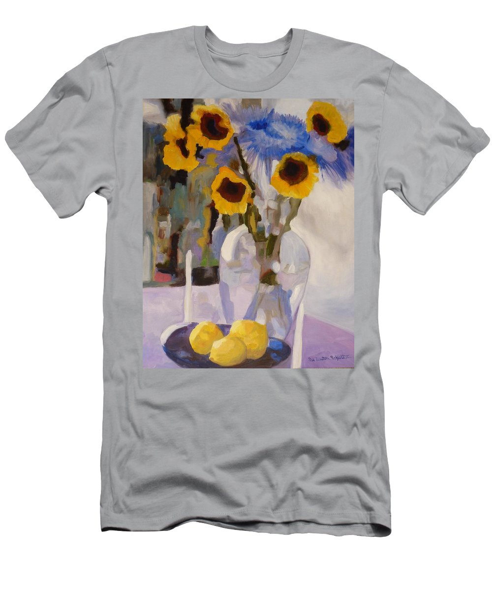 Still-life Men's T-Shirt (Athletic Fit) featuring the painting Gifts Of The Sun by Susan Duda