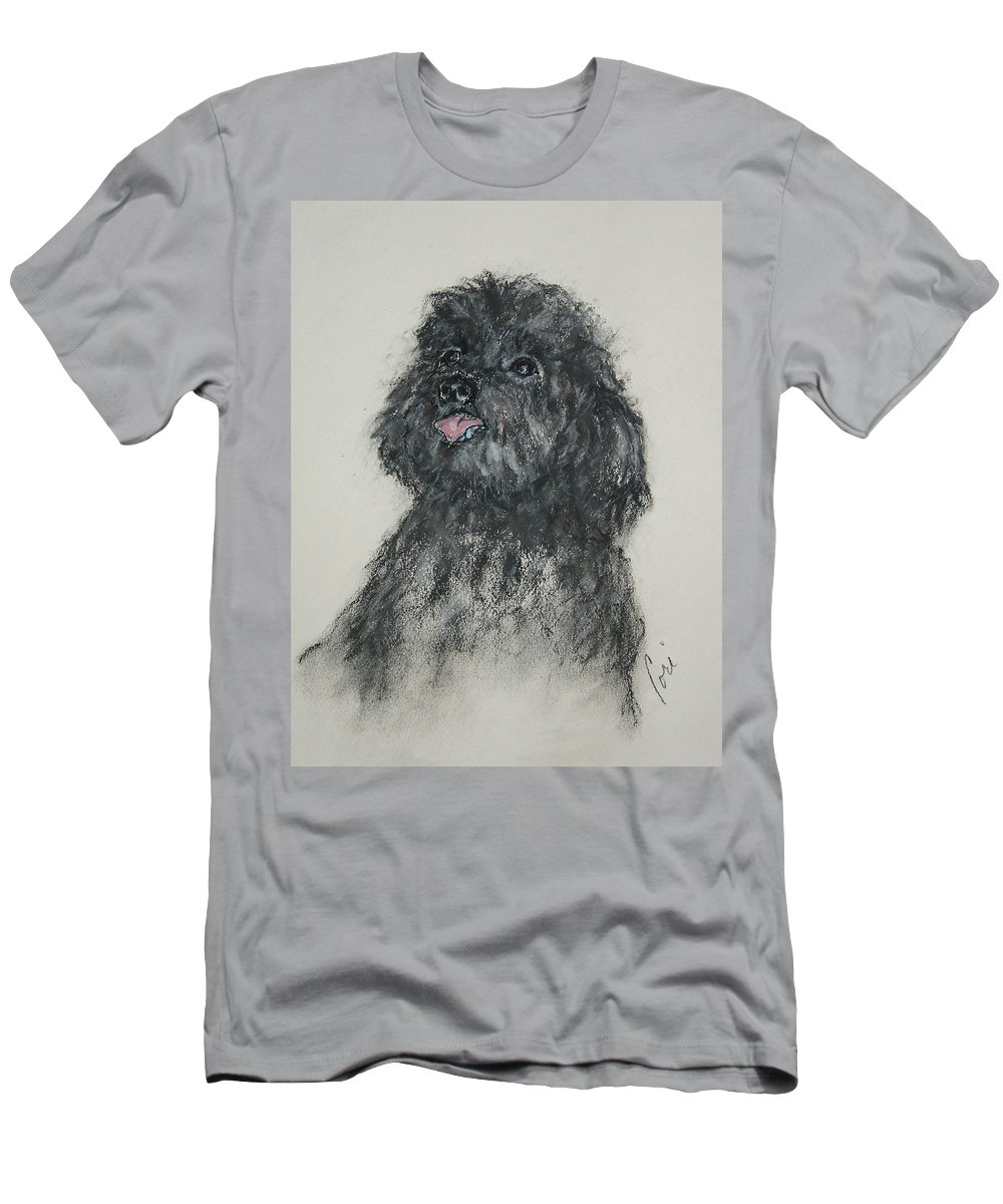 Poodle T-Shirt featuring the drawing Gigi by Cori Solomon
