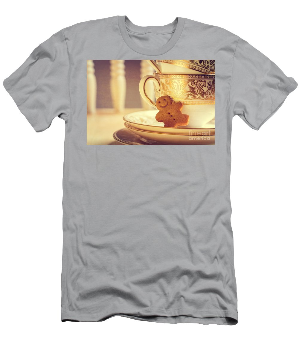 Gingerbread Men's T-Shirt (Athletic Fit) featuring the photograph Gingerbread Man by Amanda Elwell