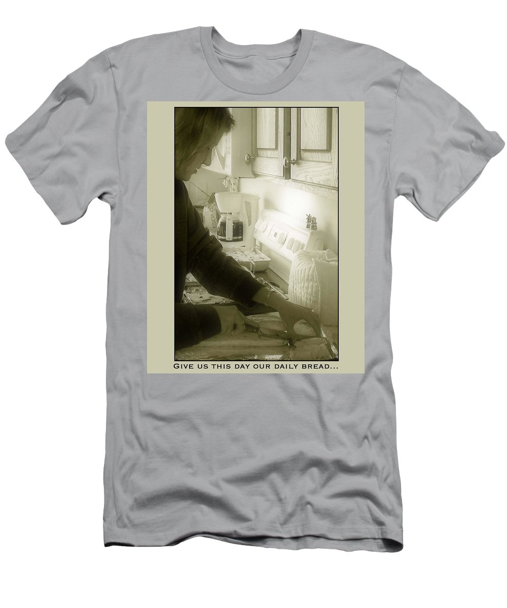 Bread Men's T-Shirt (Athletic Fit) featuring the photograph Give Us This Day Our Daily Bread by Gene Tatroe