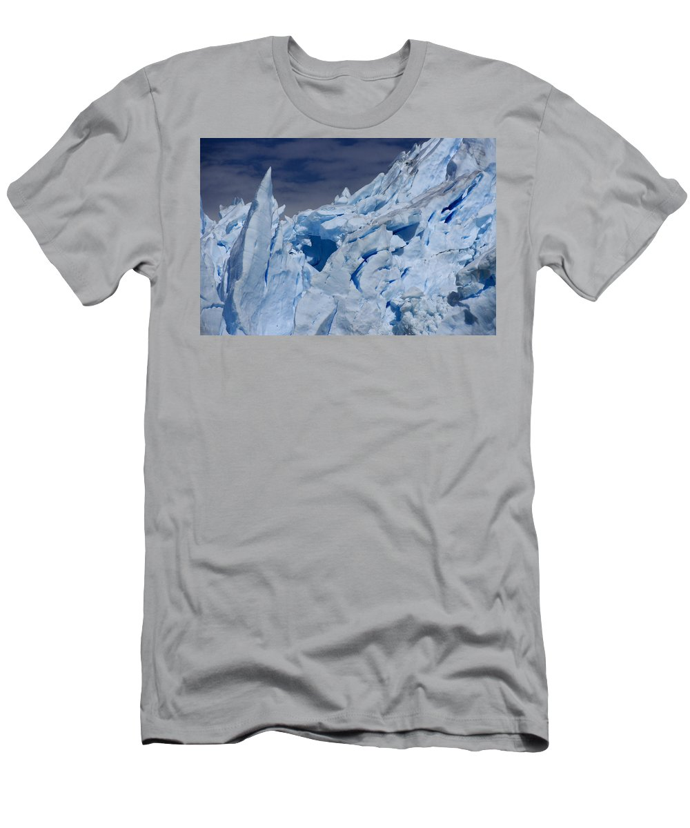 Argentina Men's T-Shirt (Athletic Fit) featuring the photograph Glacial Blue by Michele Burgess