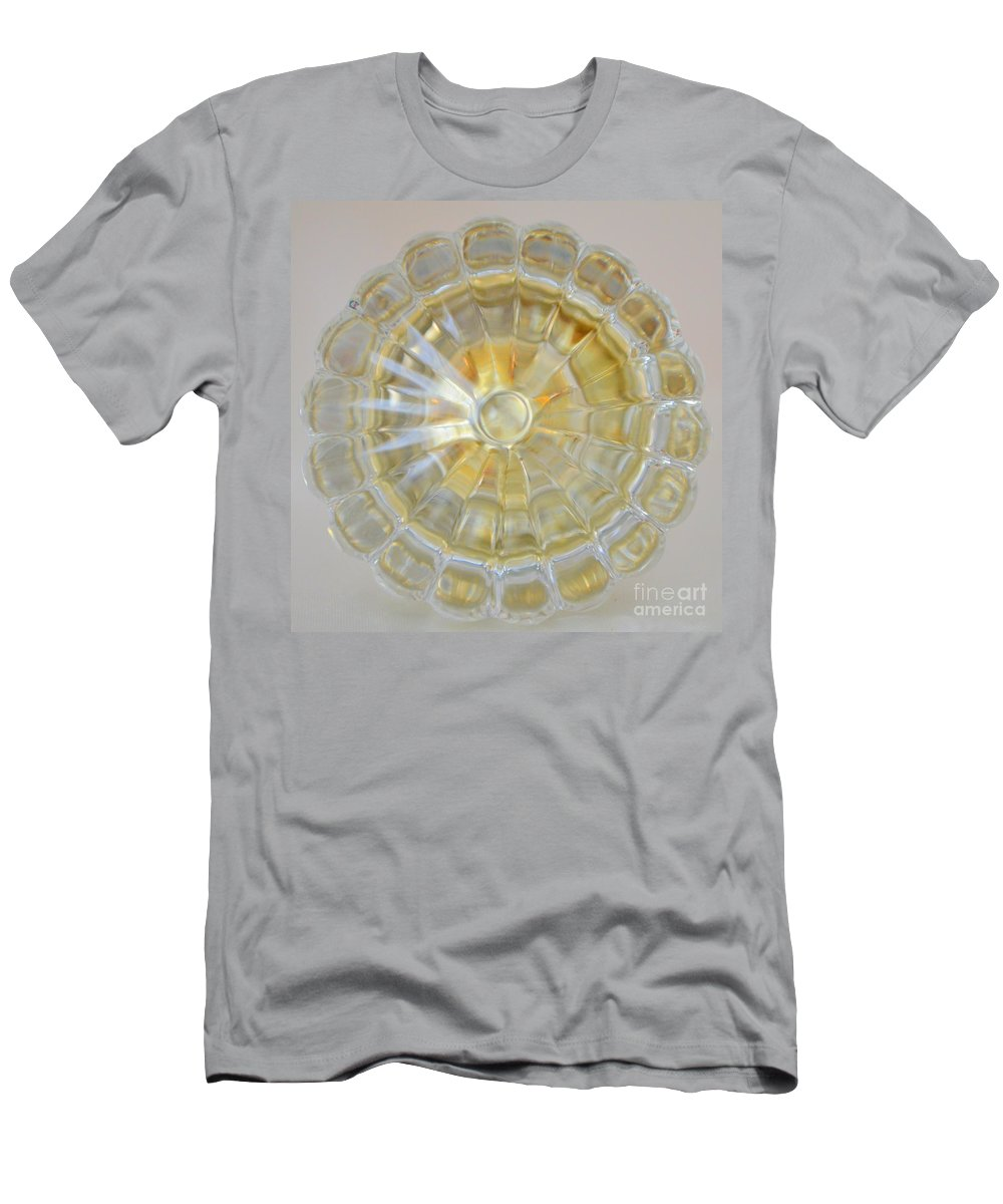 Door Knob Men's T-Shirt (Athletic Fit) featuring the photograph Glass Door Knob by Mary Deal