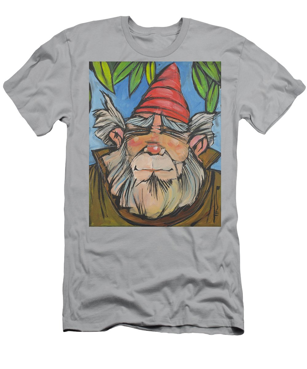 Gnome Men's T-Shirt (Athletic Fit) featuring the painting Gnome 2 by Tim Nyberg