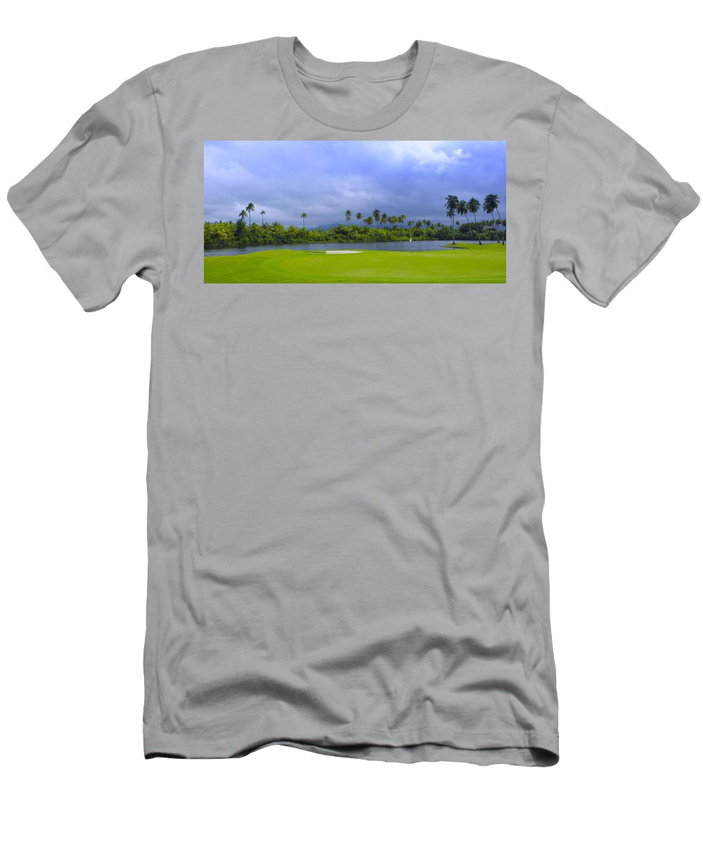 Golf Men's T-Shirt (Athletic Fit) featuring the photograph Golfer's Paradise by Stephen Anderson