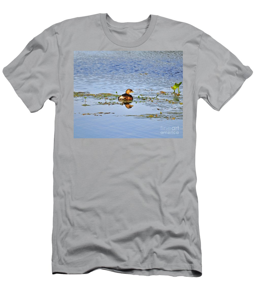 Grebe Men's T-Shirt (Athletic Fit) featuring the photograph Graceful Grebe by Al Powell Photography USA