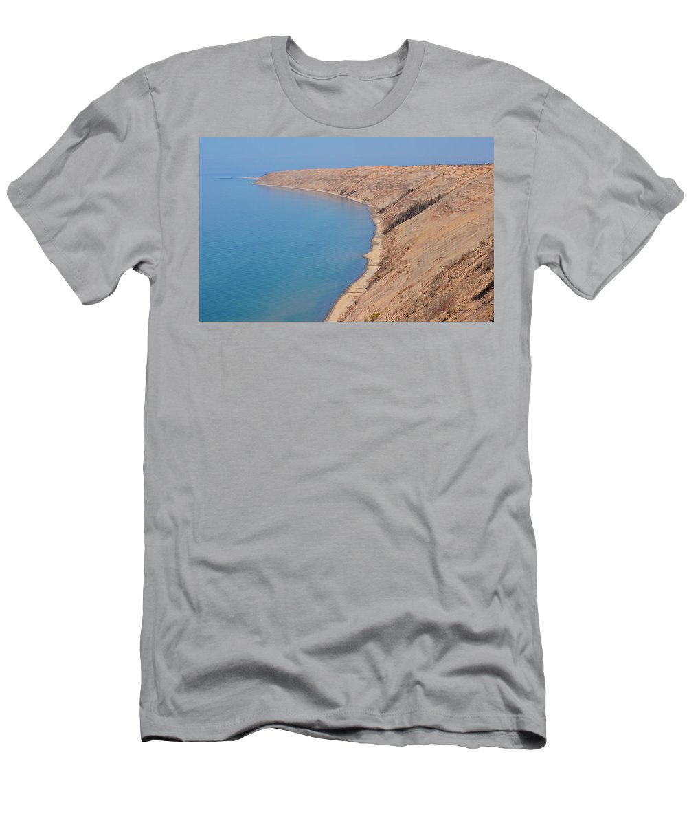 Upper Peninsula Men's T-Shirt (Athletic Fit) featuring the photograph Grand Sable Dunes by Kathryn Lund Johnson