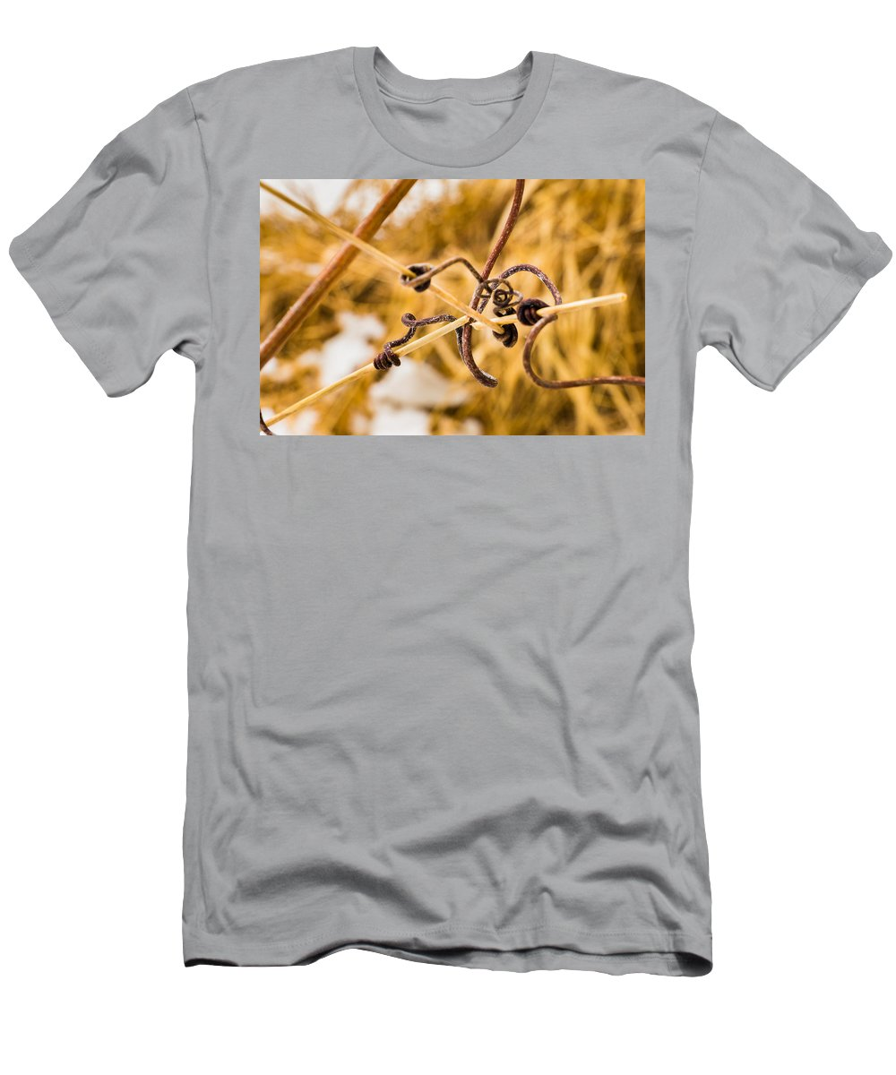 Bill Pevlor Men's T-Shirt (Athletic Fit) featuring the photograph Grasping At Straws by Bill Pevlor