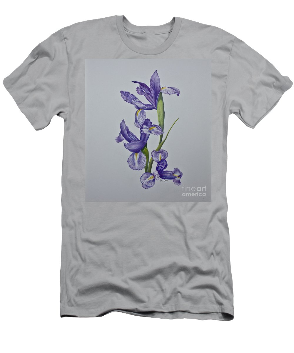 Iris Men's T-Shirt (Athletic Fit) featuring the painting Grazioso - Graceful by Karen Risbeck