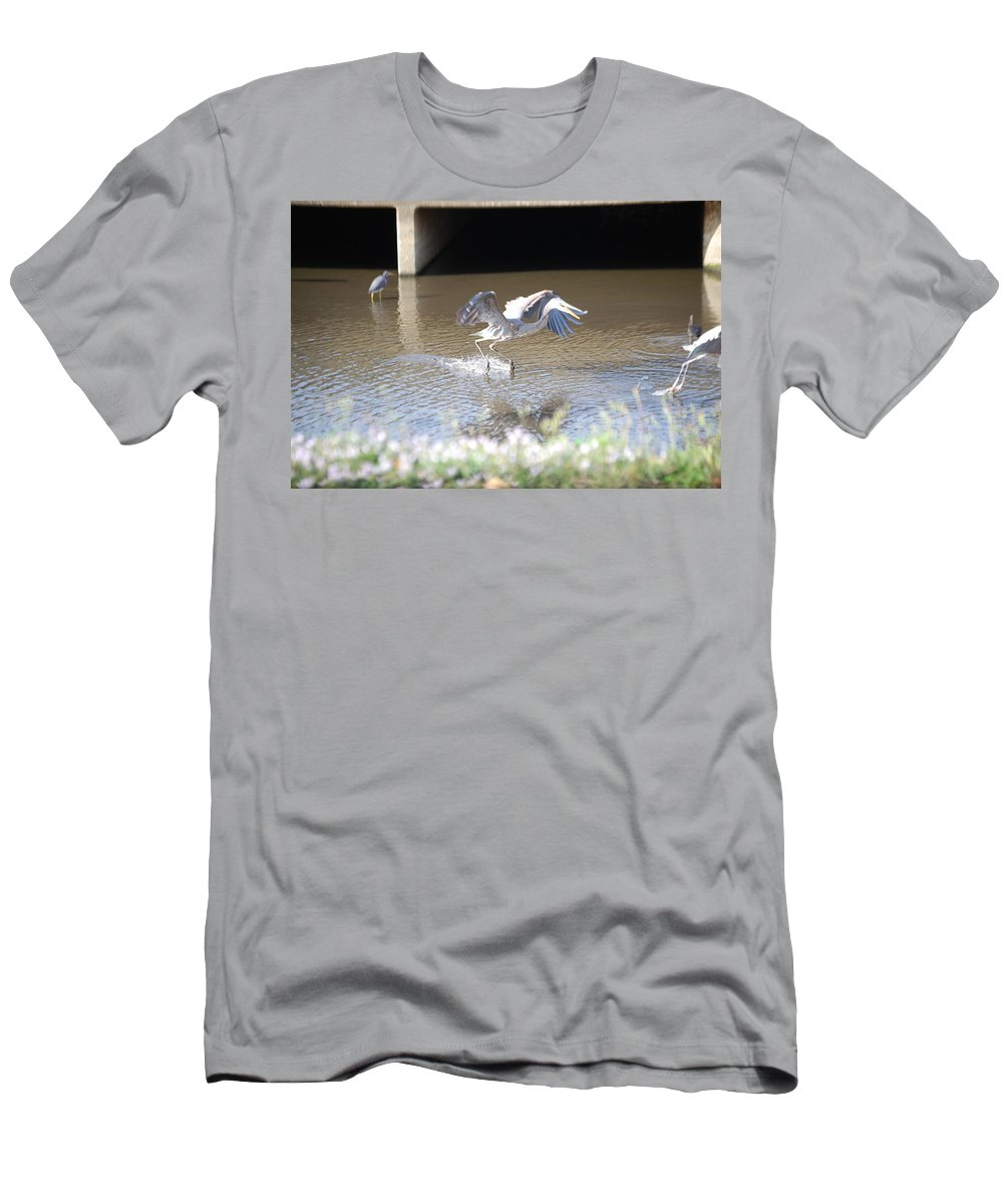 And Stay Out. My Fishing Hole! Florida Men's T-Shirt (Athletic Fit) featuring the photograph Great Blue Heron by Robert Floyd