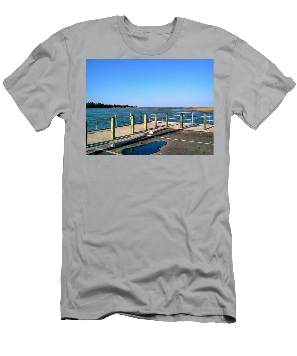Marsh Men's T-Shirt (Athletic Fit) featuring the photograph Great Day For Fishing In The Marsh by Chris W Photography AKA Christian Wilson