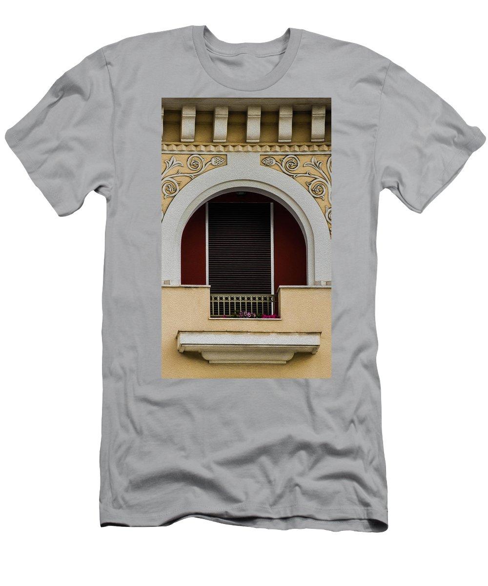 Sotiris Men's T-Shirt (Athletic Fit) featuring the photograph Greek Architecture by Sotiris Filippou