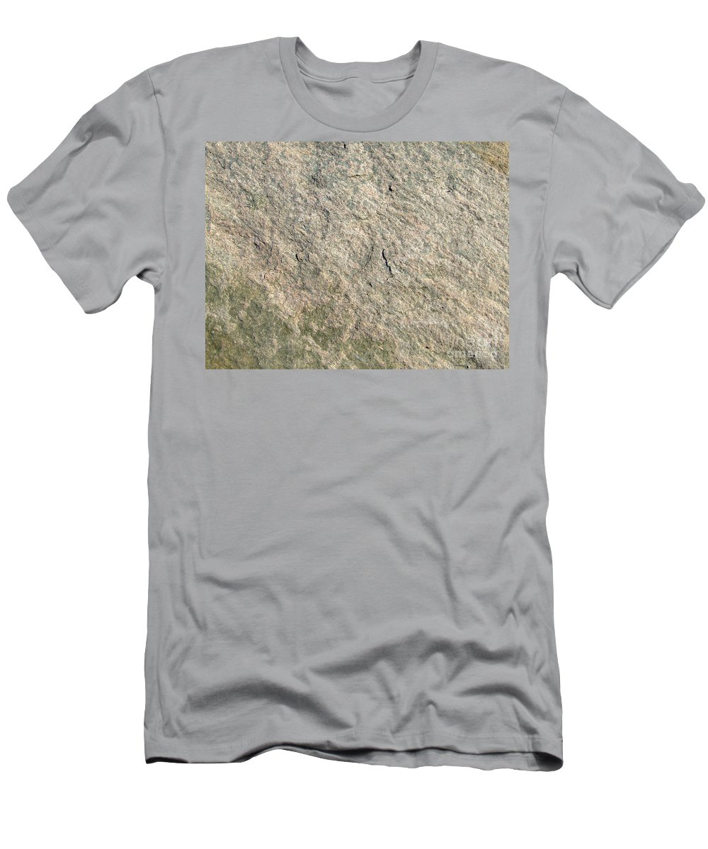 Abstract Men's T-Shirt (Athletic Fit) featuring the photograph Grey Rock Texture by Antony McAulay