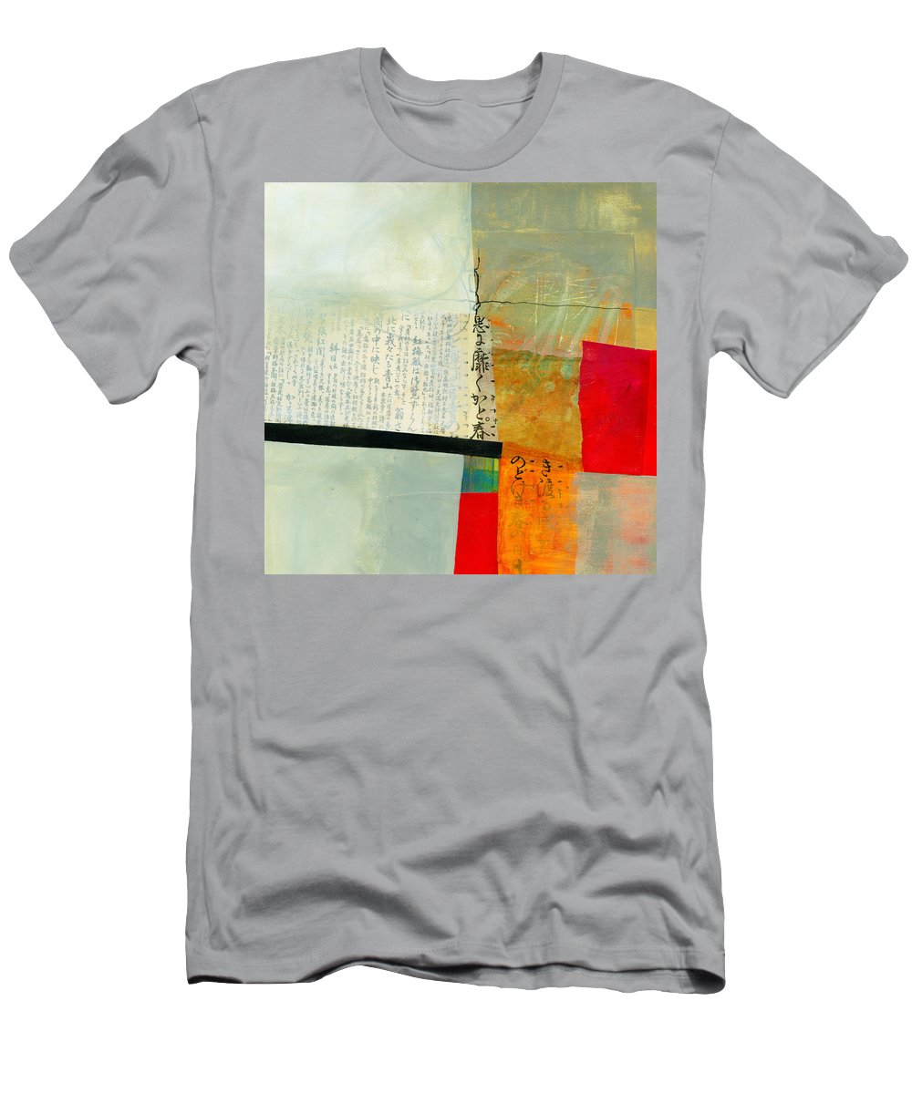 Jane Davies Men's T-Shirt (Athletic Fit) featuring the painting Grid 1 by Jane Davies